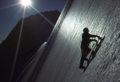 Image for climbing, showcasing a point about extreme sports when obtaining medical insurance with a medical condition.