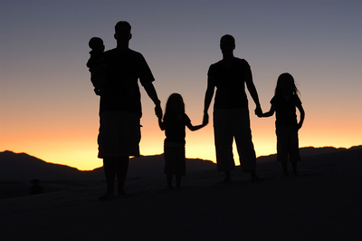 An image showing a family, for a point about travel insurance with a medical condition.